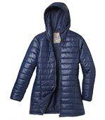 Prošívaná bunda Blue Navy s kapucí preview3