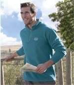 Pack of 2 Men's Microfleece Jumpers - Grey Blue preview3