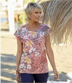 Bedrucktes T-Shirt Tropical