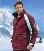 Men's Burgundy Essential Winter Parka Coat