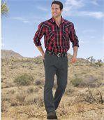Strečové džínsy spásom do gumy preview2