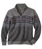 Żakardowy sweter w skandynawskim stylu preview2