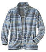 Fleecová bunda se žakárovým vzorem preview2