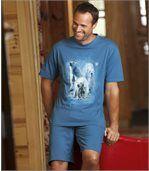 Korte pyjama met ijsberenprint preview3