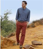 Men's Red Stretch Twill Chinos