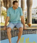 Pack of 2 Men's Laniakea Beach T-Shirts - White Turquoise preview3