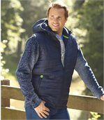 Men's Navy Casual Outdoor Jacket with Hood preview1