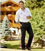 Pantalon Chino en Twill Stretch