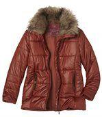 Prošívaná bunda slímcem sumělou kožešinou