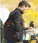 Multipocket Adventure Backpack - Black Brown