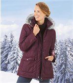 Charmante winterparka met capuchon preview1