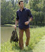 Spodnie bojówki z weluru ze stretchem preview3