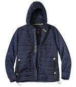 Men's Navy Casual Outdoor Jacket with Hood preview3