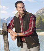 Men's Brown Gilet - Fleece - Wood Buffalo preview1