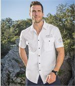 Men's White Pilot Style Shirt - Mountain Passion preview1