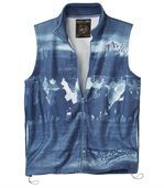 Men's Blue Gilet - Fleece - Blue Canyon preview2