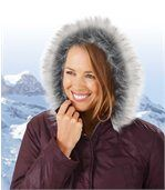 Charmante winterparka met capuchon preview2