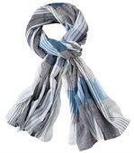 Men's Checked Crumpled-Look Scarf preview1