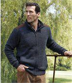 Pletený svetr podšitý fleecem preview1