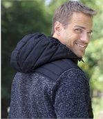 Men's Navy Casual Outdoor Jacket with Hood preview2