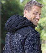 Outdoorová bunda zkombinovaného materiálu