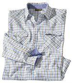 Kockovaná popelínová košeľa Montana