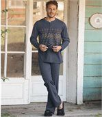 Men's Blue Comfortable Pyjamas