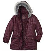 Charmante winterparka met capuchon preview3
