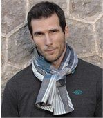 Men's Checked Crumpled-Look Scarf preview2