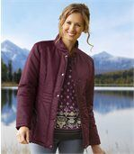 Women's Padded Jacket - Plum preview1