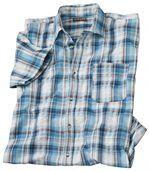 Men's Blue Lagoon Cotton Waffle Shirt preview1