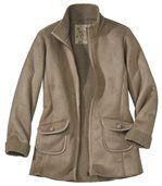 Trojštvrťový semišový kabát preview2