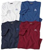 Pack of 4 Men's T-Shirts - White Red Blue Navy Blue - North Corp. preview1