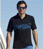 2er-Pack Poloshirts mit trendigem Aufdruck preview4