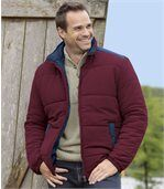Men's Burgundy Padded Jacket  preview1