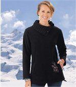 Hřejivý svetr  zkombinovaného materiálu fleece/úplet preview1