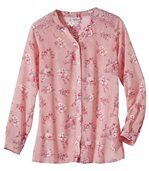Women's Pink Floral Mousseline Blouse preview2