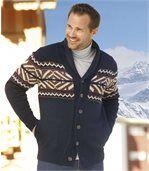 Pletená vesta so žakárovým vzorom preview1