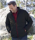 Men's Black Quilted Padded Jacket