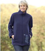 Marinefarbene Fleecejacke preview1