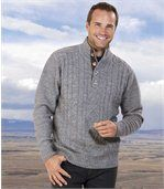 Pletený svetr s copánkovým vzorem preview1