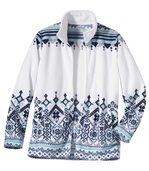 Polarowa bluza z żakardowym nadrukiem