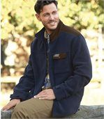 Men's Navy Fleece Jacket