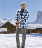 Welurowe spodnie bojówki ze stretchem preview2