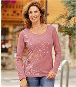 Kvetinové tričko v pastelových farbách