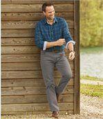 Grijze stretch jeans