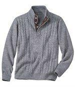 Pletený svetr s copánkovým vzorem preview2