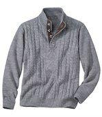 Sweter z warkoczowym splotem preview2