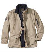 Men's Beige Outdoor Parka Coat
