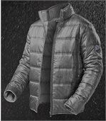 Men's Grey Winter Puffer Jacket preview3